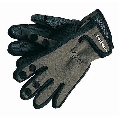Barbour Neoprene Gloves in green