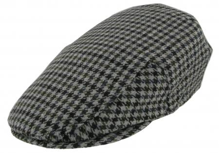 Barbour New County Tweed Flat Cap Grey Tweed