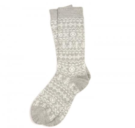 Barbour Newton Fairisle Sock for ladies in grey