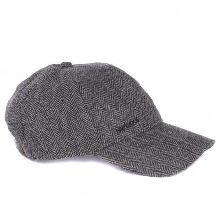 Barbour Oakwell Sports Cap in grey herringbone MHA0482GY31
