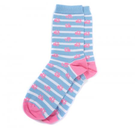 Barbour Paw Stripe Socks LSO0102