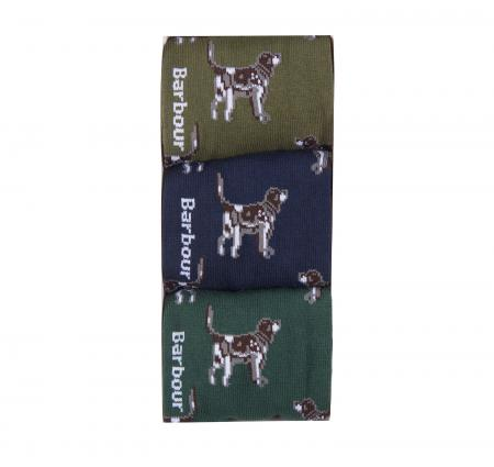 Barbour Pointer Dog Socks Gift Box MGS0037