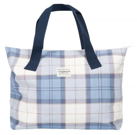 Barbour Printed Shopper Bag in Fade Blue LBA0312
