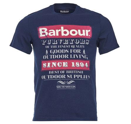 Barbour Purveyor T-Shirt in Navy