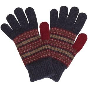 Barbour Rawfoot Knitted Fairisle Gloves for Ladies in indigo