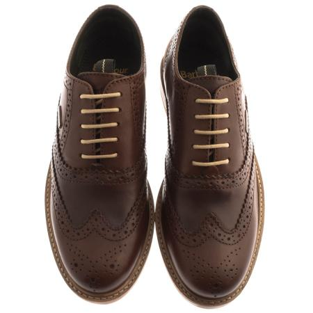 Barbour Redcar Brogue Shoe for Men in dark brown conker