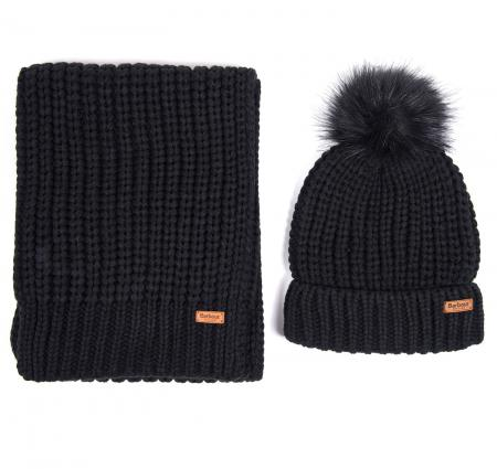 Barbour Saltburn Beanie Hat and Scarf Set LAC0194
