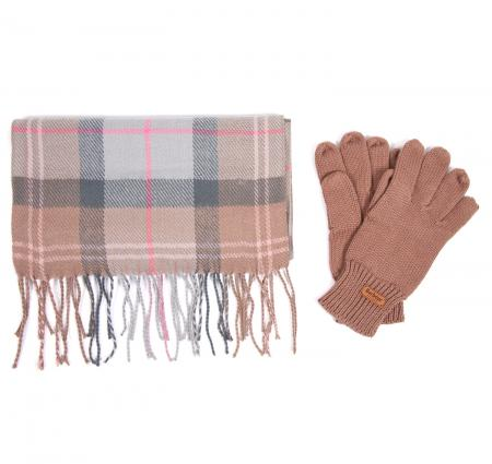 Barbour Scarf and Knitted Glove Gift Set LAC0192