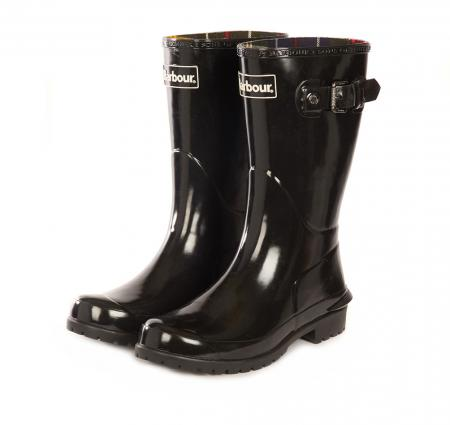 Barbour Short Primrose Festival Wellington Boot in yellow