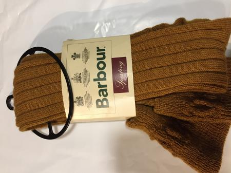 Barbour Sporting Hill Gun Stockings in mustard
