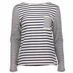 Barbour Barnacle Top for ladies in navy and white