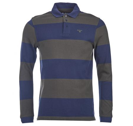 Barbour Striped Long Sleeved Sports Polo Shirt MTS0118