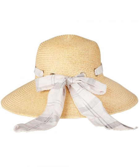 Barbour Summer Tartan Straw Hat for ladies LHA0274BE11