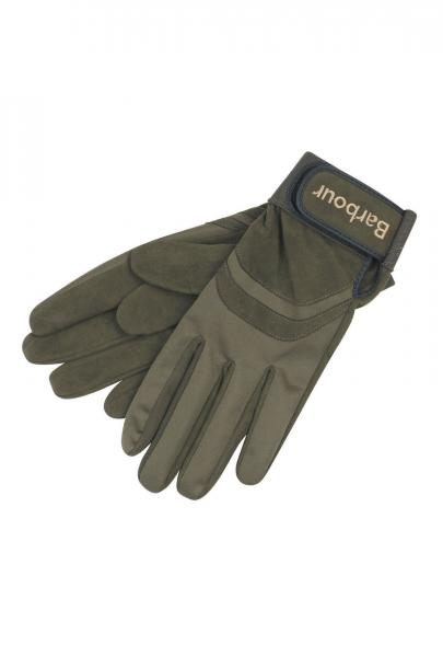 Barbour Sure Grip Sporting Gloves in olive