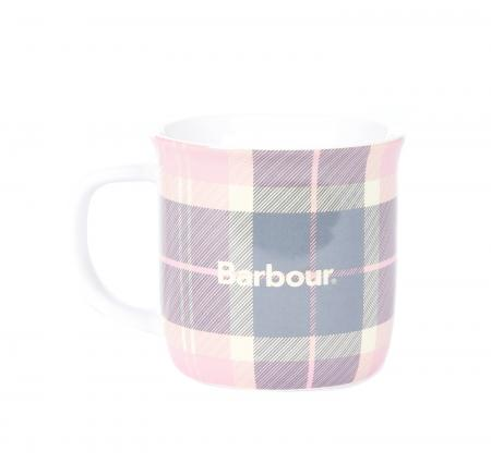 Barbour Tartan Mug in pink and grey UAC0229PI11