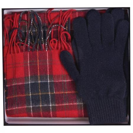 Barbour Tartan Scarf And Glove Gift Set MGS0018
