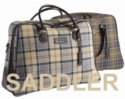 Barbour Tartan Weekend Bag at Cox the Saddler