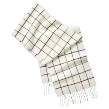 Barbour Tattershall Lambswool Scarf in cream
