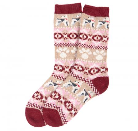 Barbour Terrier Paw Fairisle Sock for ladies LSO0093
