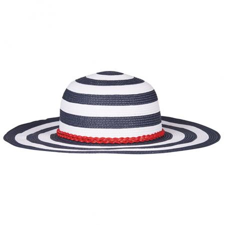 Barbour Tide Sun Hat for ladies in navy and white
