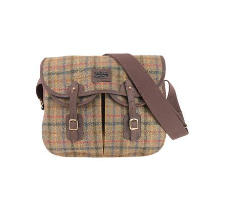 Barbour Tweed Tartan Tarras Bag in Olive Green UBA0303OL51