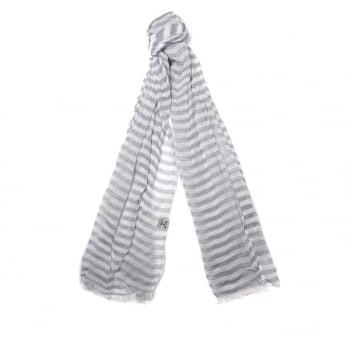 Barbour Waterside Scarf in blue and white stripe LSC0152BL11