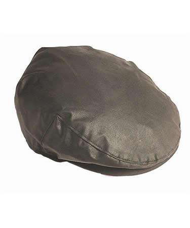 Barbour Waxed Cotton Flat Cap Sylkoil olive green