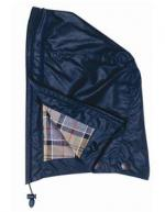 Barbour Waxed Cotton Hood in navy blue