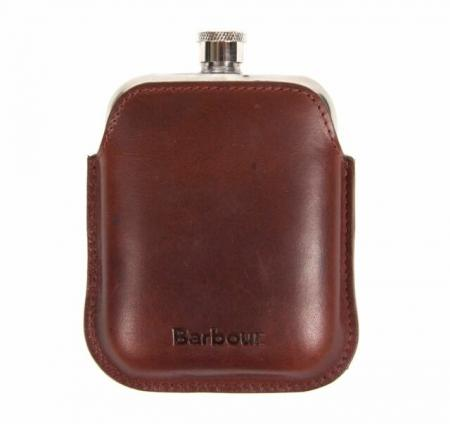 Barbour Wax Leather Hip Flask MAC0260