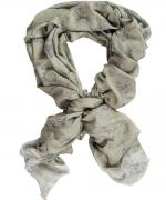 Barbour Woodland cashmere and silk wrap in muted green