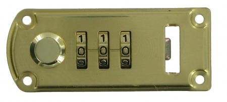 Bevelled 3 Dial Combination Lock slcl1
