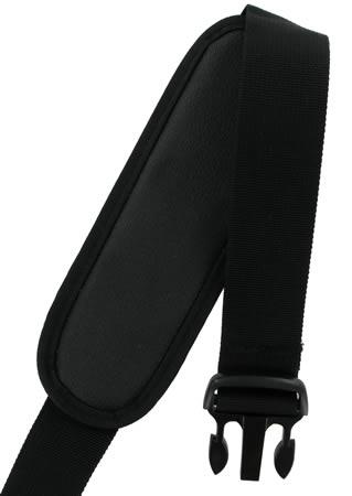 Black Nylon Shoulder Strap with Shoulder Pad and side release clips SWSS12