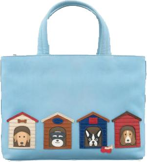 Bone Sweet Bone Blue Leather Grab Bag