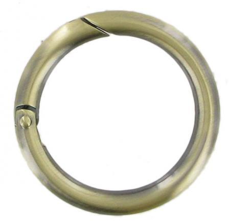 Brass, Antique Brass or Chrome Spring Gate Ring 66mm CR5