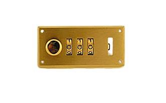 Brass 3 Dial Combination Lock for Briefcase, Left