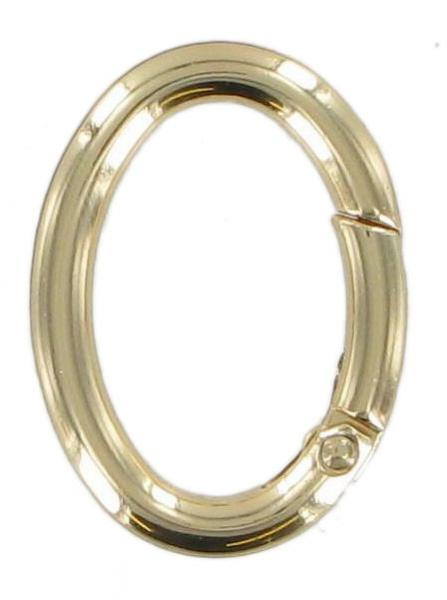 Brass Oval Spring Gate Ring CR4
