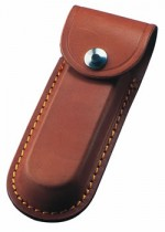 Brown 5 inch Leather Knife Pouch