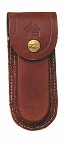 Brown Leather Puma 5 inch Knife Pouch