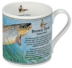 Brown Trout Bone China Mug