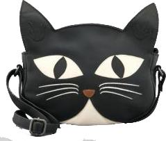 Bruce The Cat Leather Shoulder Bag