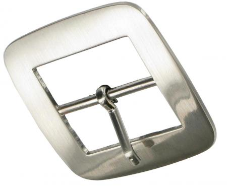 Brushed Chrome Double Buckle 39mm CDB1