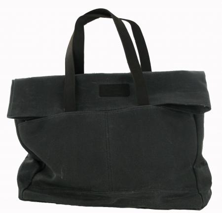 Canvas Fold over Tote by Barbour in Graphite Grey