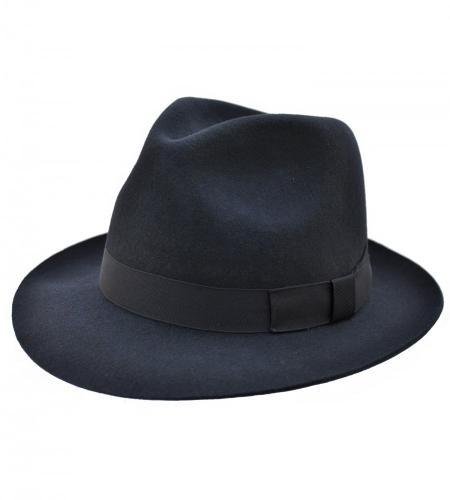 Chepstow Trilby Hat in navy by Christys
