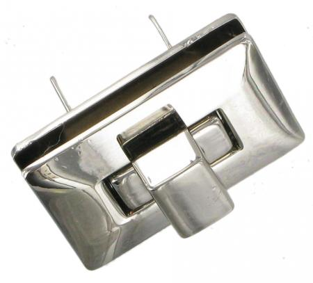 Chrome Turn Lock for handbags 40mm x 29mm CXTL11