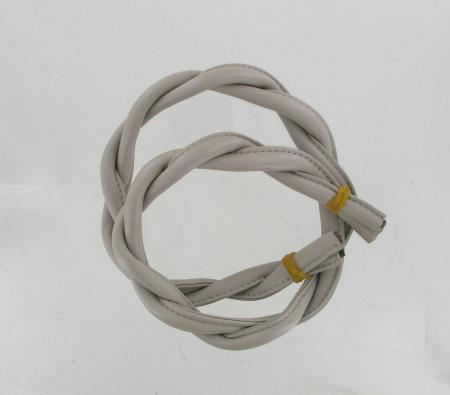 65cm Twisted Leather Handles Beige