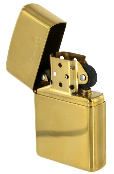 Zippo High Polished Brass Cigarette Lighter at Cox the Saddler