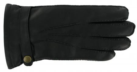 Dents Men's Leather Gloves with Rabbit Fur Lining