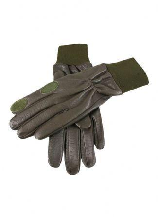 Dents Leather shooting glove in olive