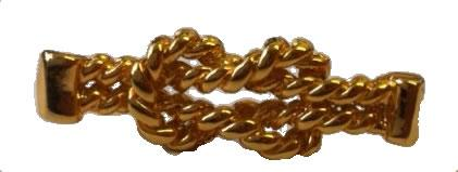 Gold Effect Reef Knot Motif for Bags and Shoes