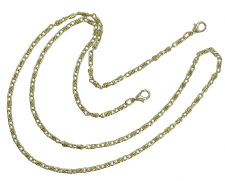 Gold Finish Chain Handbag Strap 98cm CXCHABR